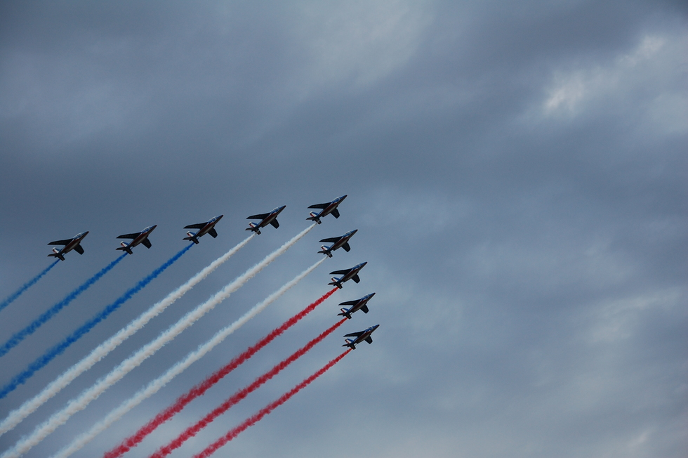 French Airforce Flyover during the Bastille day