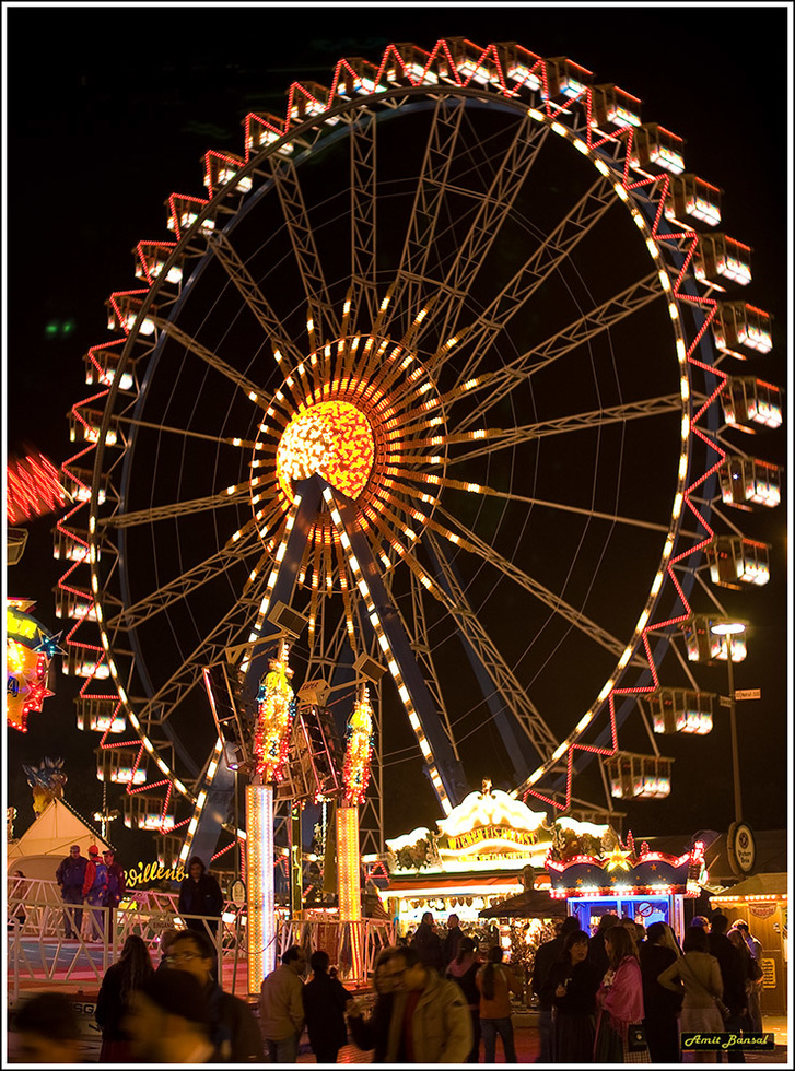 The 164-foot-tall Ferris Wheel is just one part of the Fun Fair.