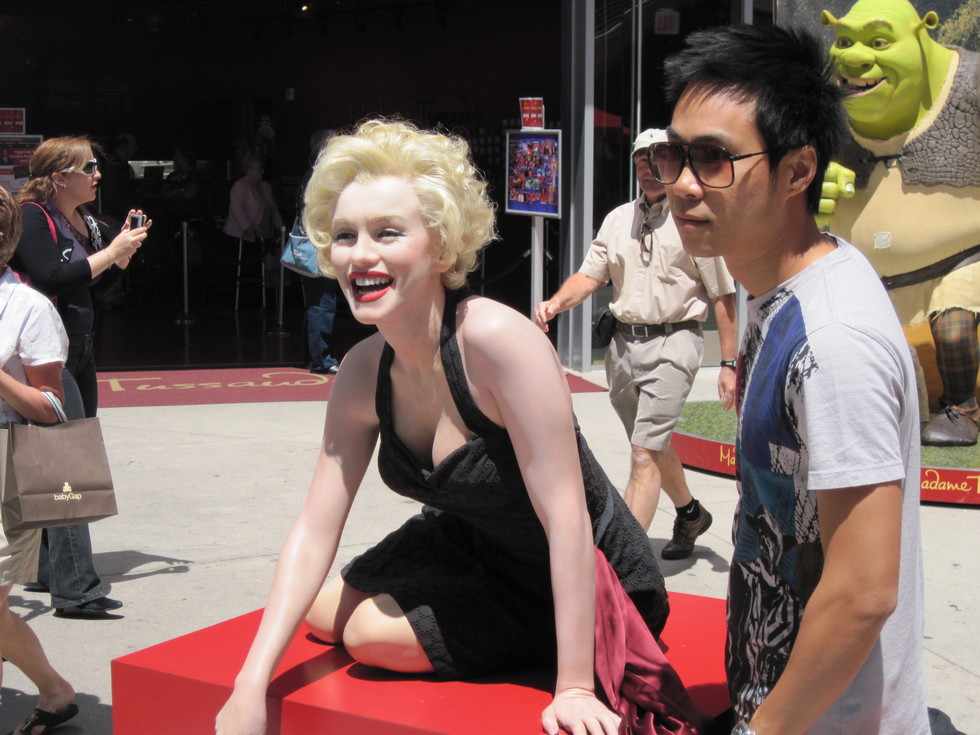 Faux Marilyn Monroe on Hollywood Boulevard