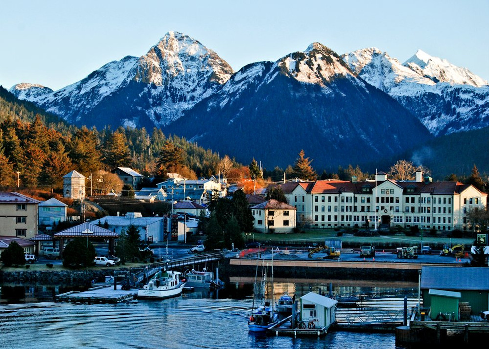 Sitka is a traditionally Russian town nestled on Baranof Island and faces the Pacific Ocean. It's also known as the hometown of Ryan Reynolds in The Proposal. Stay at Otter's Cove Bed and Breakfast for a breathtaking view.