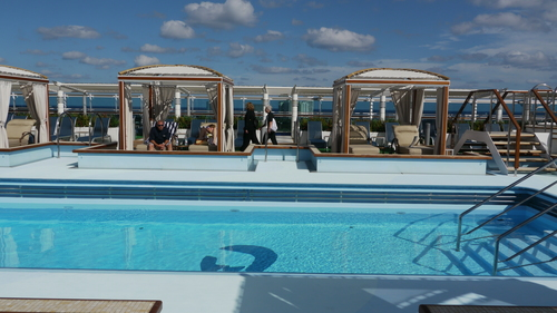 The Retreat adults-only pool, Royal Princess