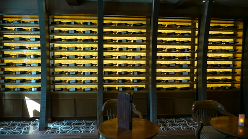 The wine wall in Vines, Royal Princess