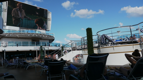 Late afternoon movies by the pool, Royal Princess
