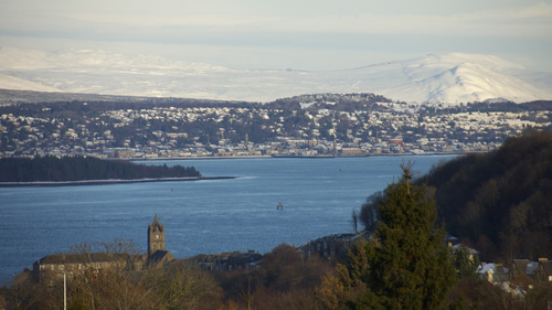 Gourock and Helensburgh, Scotland, near Glasgow, on John Muir Way