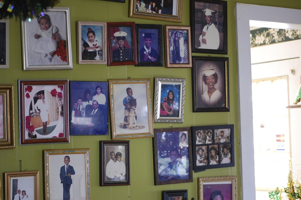 Photos of the owner's family adorn the walls and gospel music plays at this lovely little down-home diner.