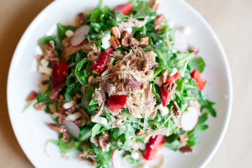 Dig in to a duck confit salad at Beausoleil in Baton Rouge