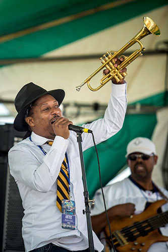 Kermit Ruffins plays at the Gretna Heritage Festival outside New Orleans, 2013