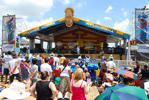 Daytime stage at Jazz and Heritage Festival, New Orleans