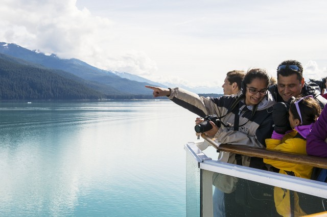 Disney Wonder at the head of Tracy Arm, facing South Sawyer Glacier. Photo: Disney Cruise Line