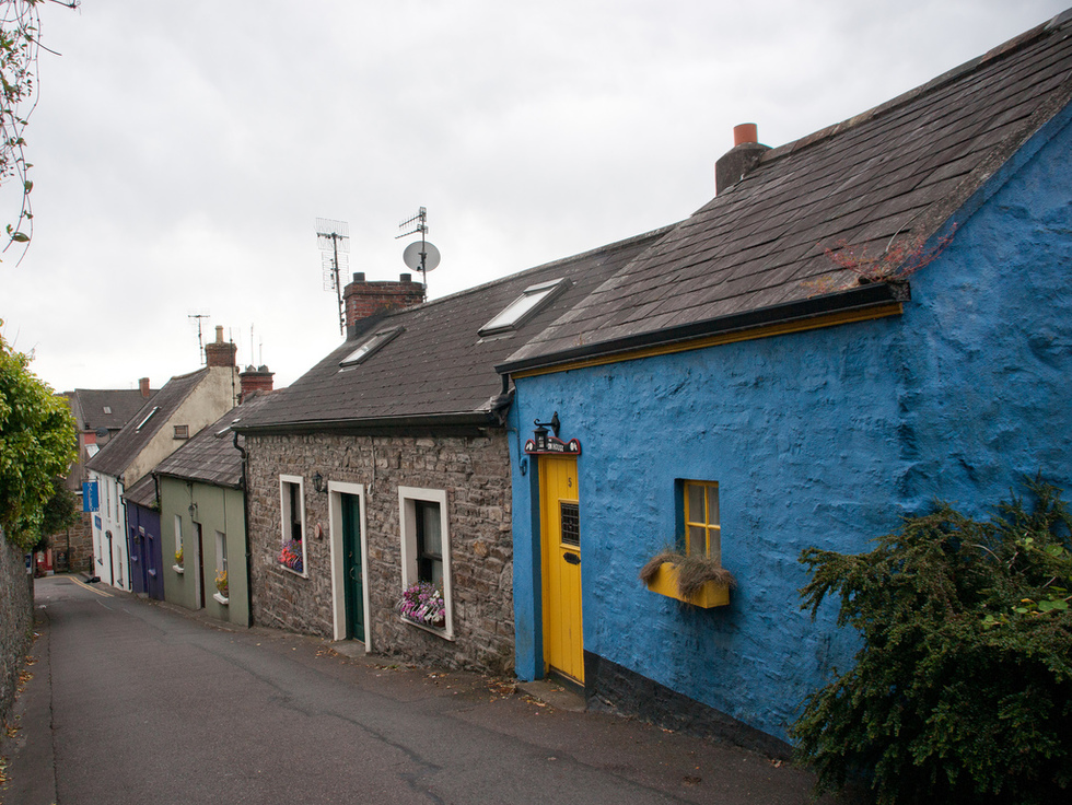 A colorful street in Kinsale