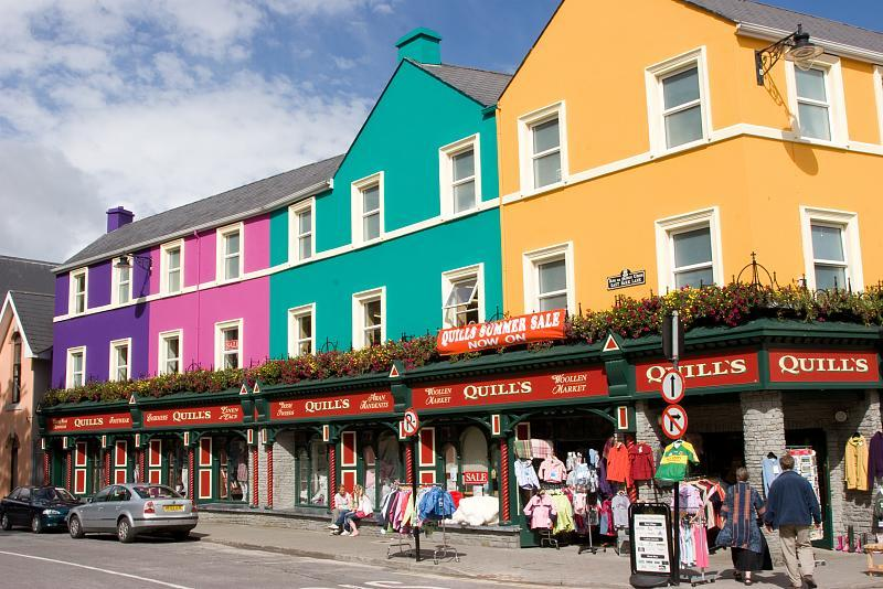 Brilliantly colored shops line the streets of Kenmare