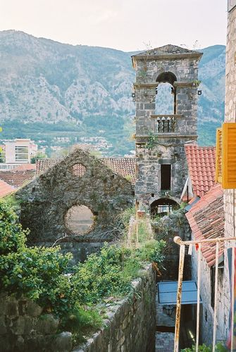 An abandoned church in Kotor, Montenegro.