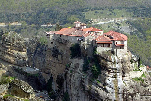 A monastery on the cliffs of Meteora, Greece.