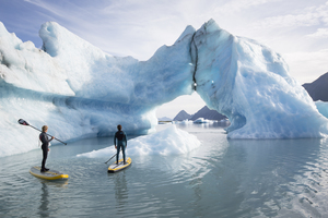 Stand-up paddling in Alaska
