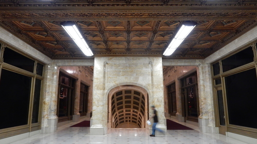 Private subway entrance, Woolworth Building
