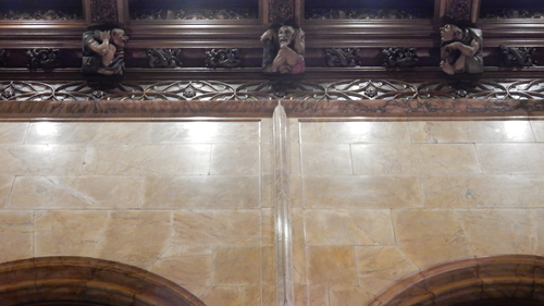 Guildhall-style wooden figures, Woolworth Building