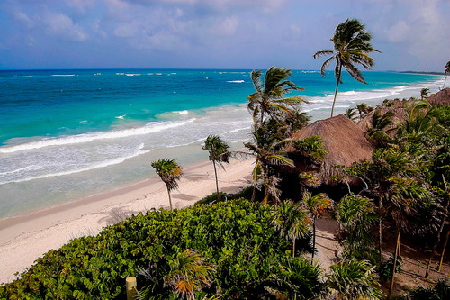 The beach in Tulum, Mexico