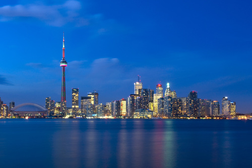 A view of Toronto from the water