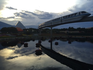 Monorail in Epcot