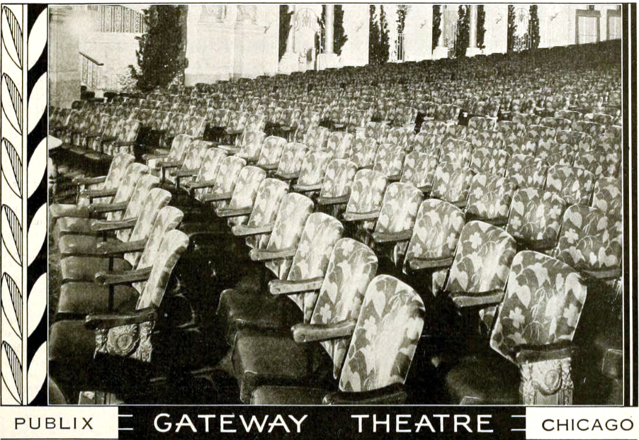 A photo of the inside of the Gateway Theater