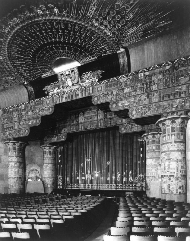 A photo of the Egyptian Theatre in Hollywood California