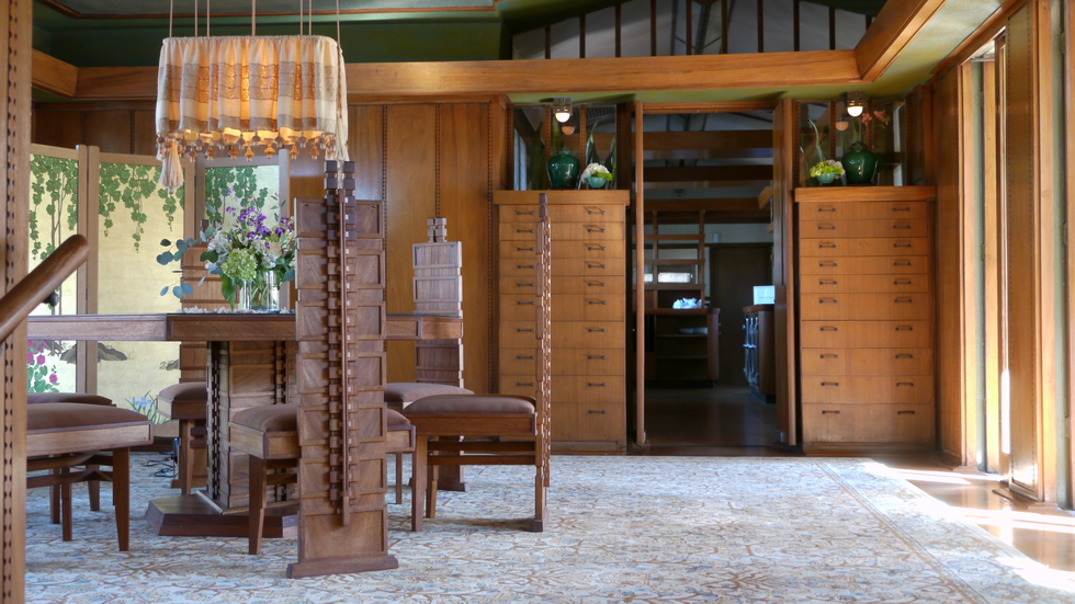 Dining room, Hollyhock House