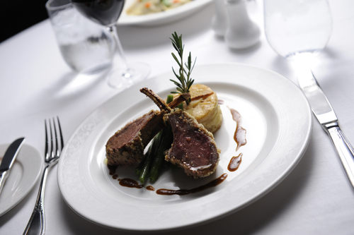 Rack of lamb from the Royal Court Restaurant