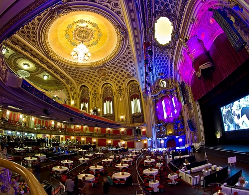 An interior shot of the landmarked Midland Theater in Kansas City, Missouri