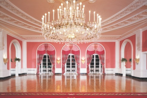 The Cameo Ballroom at the Greenbrier Resort in West Virginia