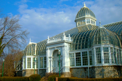 Entrance to Greenhouse of Franklin Park Conservatory and Botanical Gardens