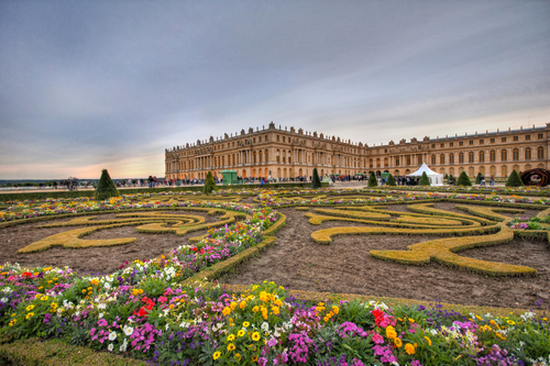 The gardens of the Palace of Versailles.