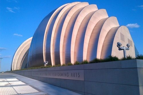 The Kauffman Center for the Performing Arts in Kansas City, Missouri.