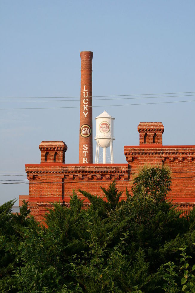 Lucky Strike tower in Durham, NC.