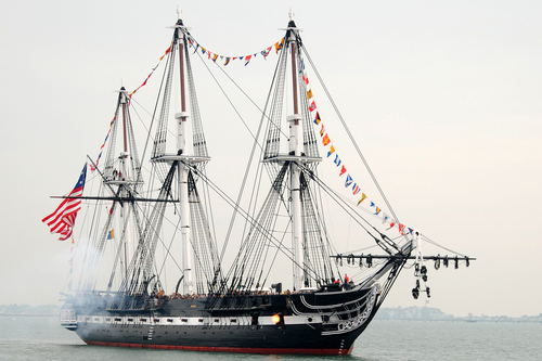 Old Ironsides on the water