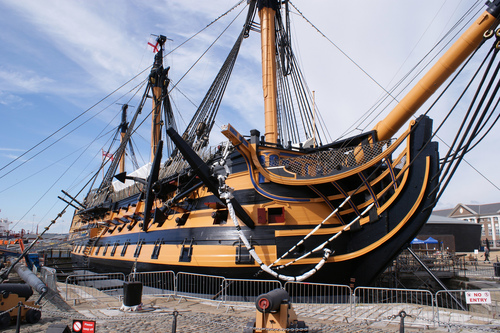 The HMS Victory in England