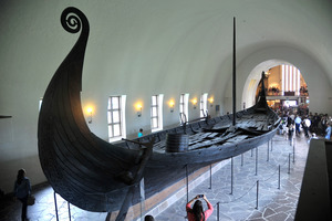 The Gokstad ship in The Vikingskiphuset in Norway.