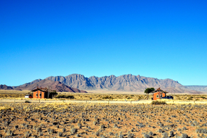 Two housing units in Desert Camp of Southern Namibia