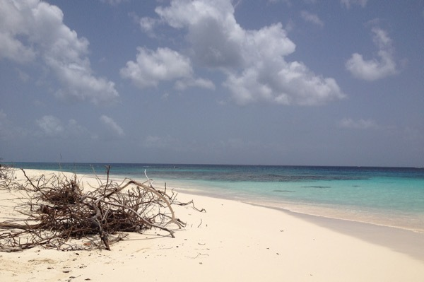 A bit of sand at Shoal Bay in Anguilla.