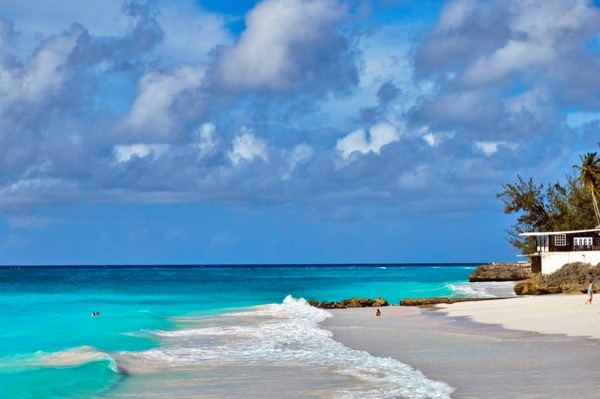 A shot of Payne's Beach in Barbados.