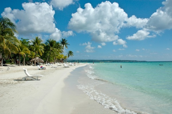 The lovely Seven Mile Beach in Negril, Jamaica.