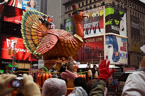 Macy's Thanksgiving Parade turkey and pilgrims