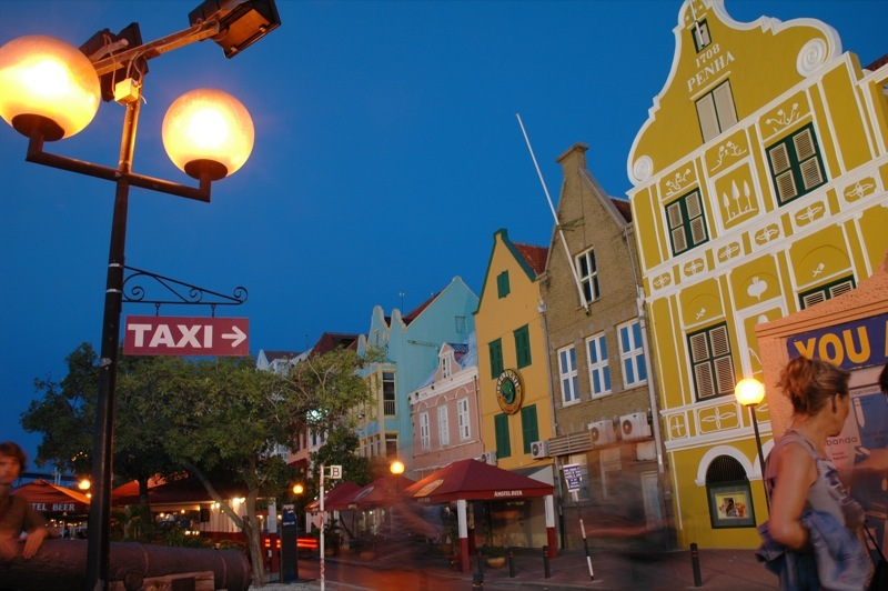 The colorful streets of Willemstad, Curacao.