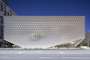 Exterior of The Broad museum, downtown Los Angeles