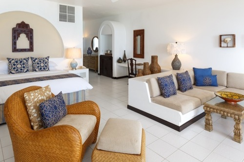 Though it's in the Caribbean, Cap Juluca takes much of its design aesthetic from Morocco as you can see in this guest bedroom