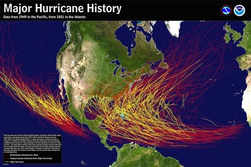 Hurricane season July through September