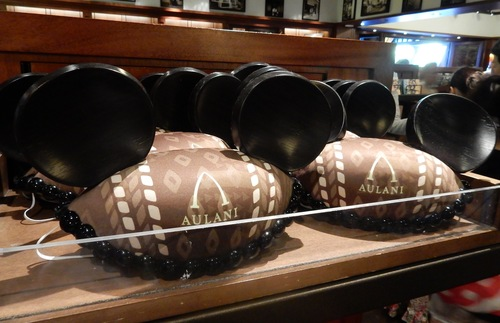 You don't need to ask if there Aulani-specific souvenirs—Disney doesn't miss a trick, and of course there are plenty of Disney fans who belly up to the cash register to stock up on the stuff they can only buy here, like these mouse ear hats.
