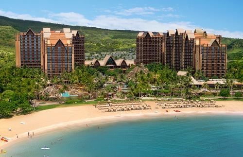 Disney's Aulani resort aerial view
