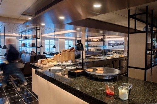Updated Cafe on Hurtigruten