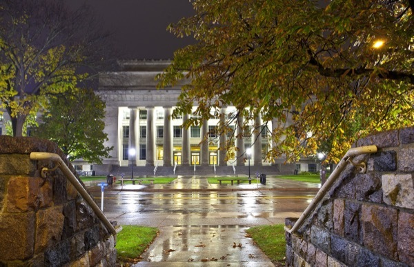 The grand Angell Hall at the University of Michigan in Ann Arbor.
