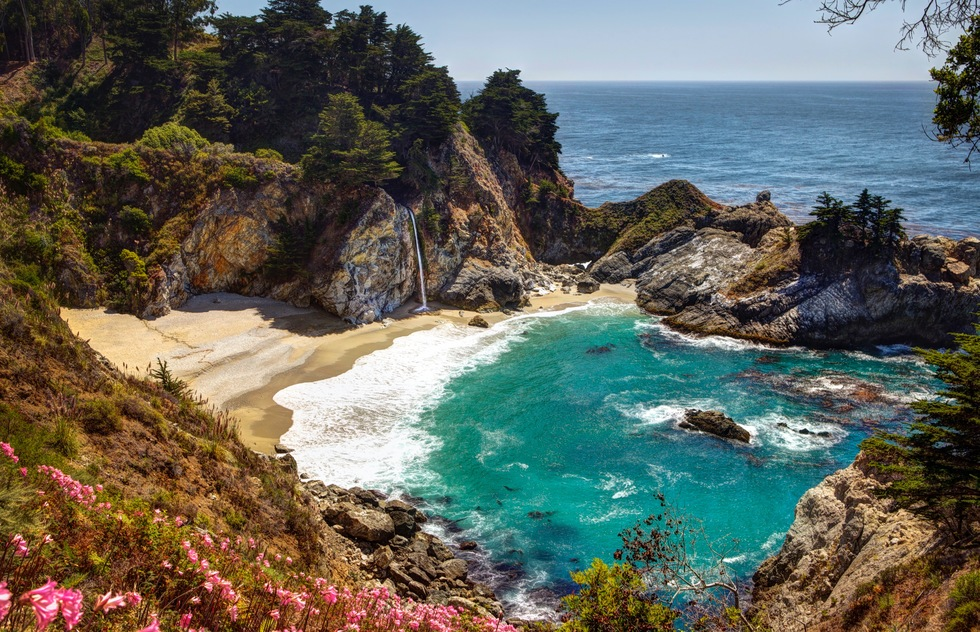 A cove at Julia Pfeiffer Burns State Park in California